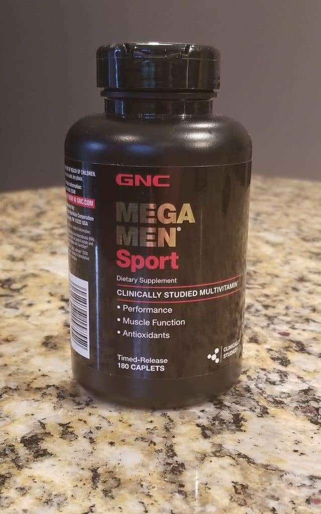 Bottle of MegaMen Sport Multivitamins
